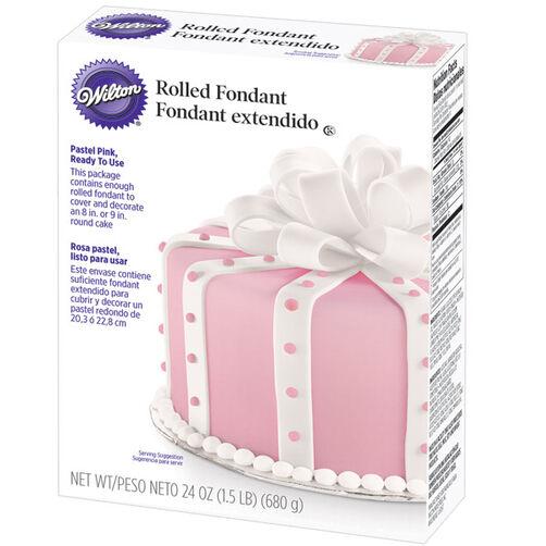Wilton Cake Fondant Class : Ready-To-Use Pastel Pink Rolled Fondant Wilton