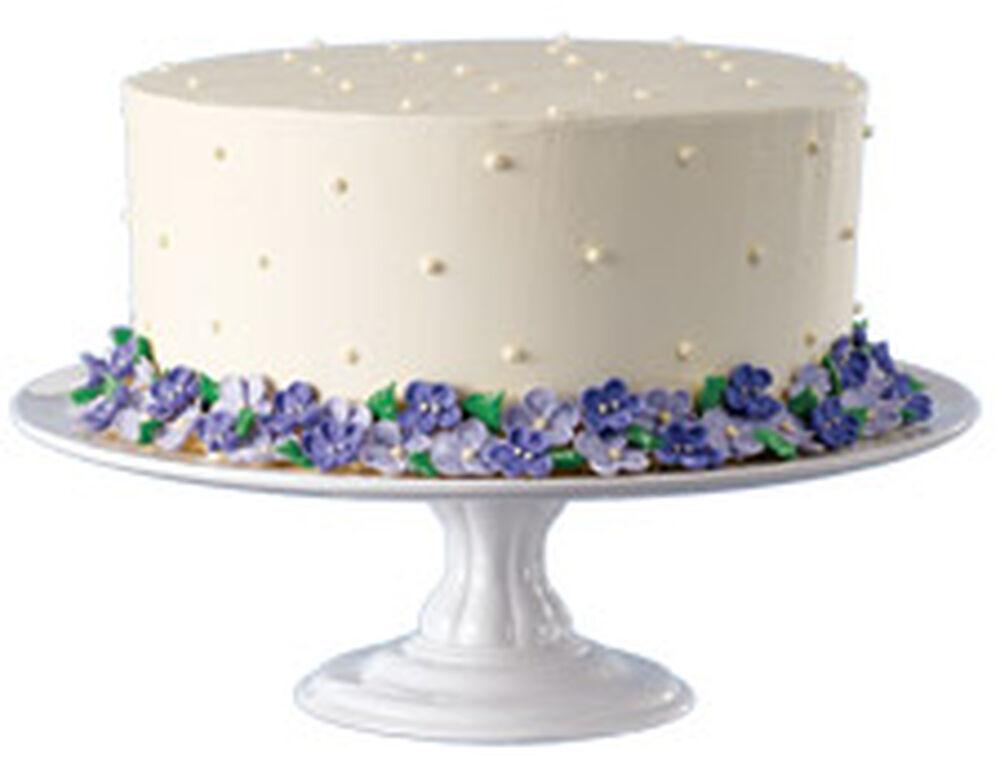 White Ceramic Pedestal Cake Stand Wilton