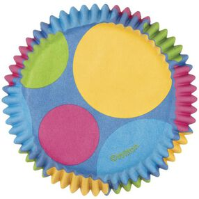 Retro Dots Cupcake Liners