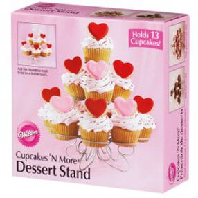 Valentine Cupcakes 'N More Dessert Stand