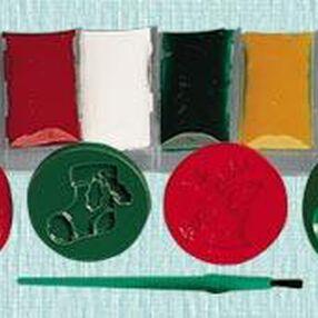 Santa's Treats Stamp-N-Color Cookie Kit