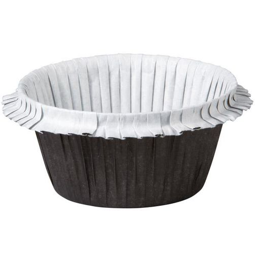 Black Double Ruffle Standard Baking Cup