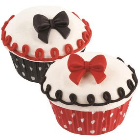 Wilton Black, Red and White Bows Royal Icing Decorations, 12 Ct. 710-2217