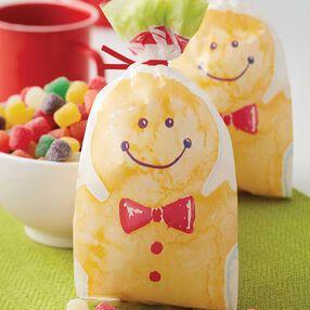 Gingerbread Man Treat Bags