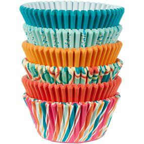 Assorted Retro Color Baking Cups
