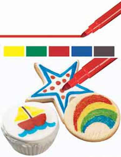 FoodWriter Bold Tip Primary Colors Edible Color Markers