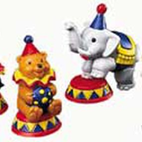 Circus Animals Topper Set