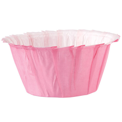 Pink Ruffled Baking Cups