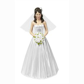 Wilton Wedding Cake Topper Figure, Classic Bride with Floral Headpiece