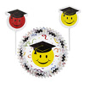 Wilton Smiley Grad Cupcake Combo Pack Baking Cups and Picks