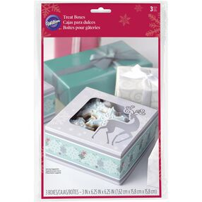 Reindeer Winter Wonderland Treat Boxes, 3-Pack