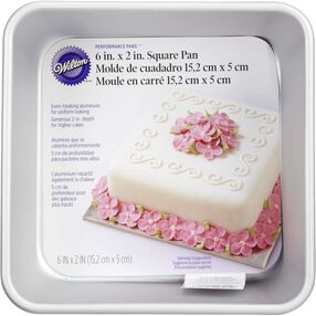 Wilton Cake Pans - Performance Pans 6 x 2 Square Cake Pan