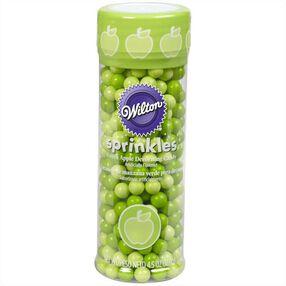 Wilton Green Apple-Flavored Sugar Pearl Sprinkles