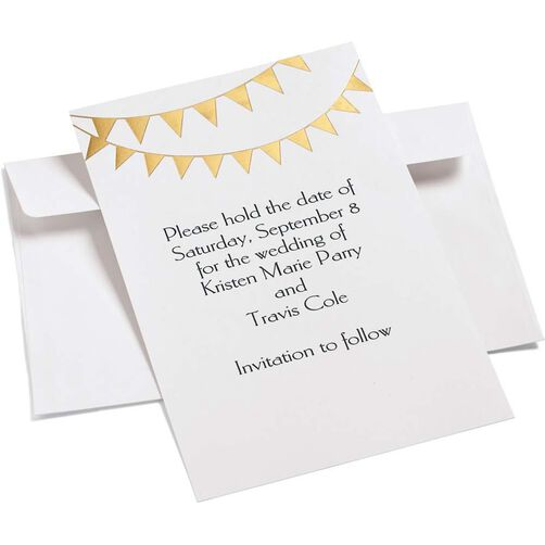 Gold Pennant Invitation Kit