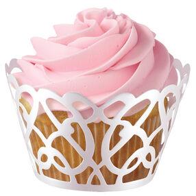 White Pearl Swirl Cupcake Wrap