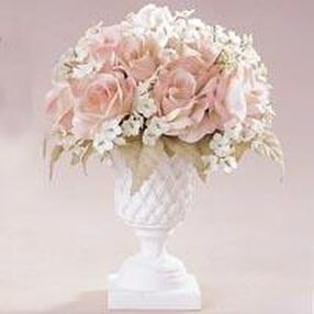 Blush Rose Topiary Arrangement