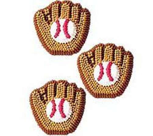 Baseball Mitt Icing Decorations