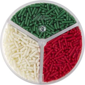 Wilton Red Green and White Christmas Jimmies Sprinkles