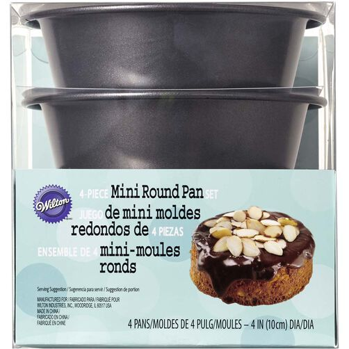 4 Piece Round Mini Cake Pan Set
