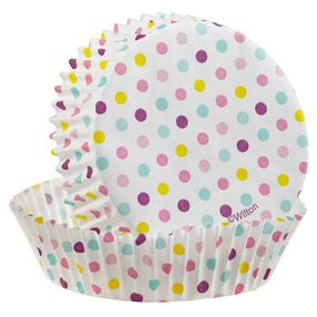 Wilton Multicolor Dot Round Cake Cup, 24 Ct. 415-2033