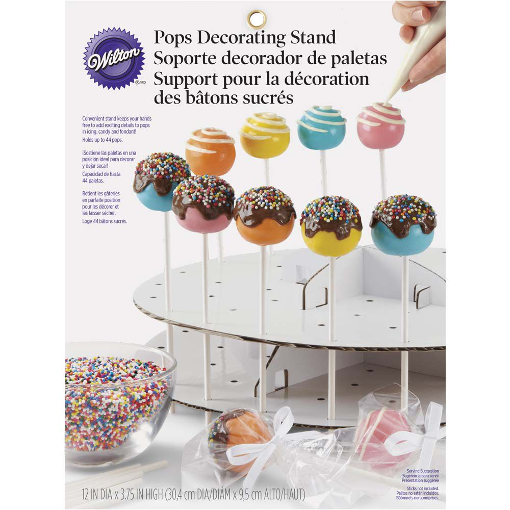 Cake pops decorating stand wilton for Pop cake decoration