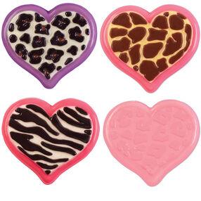 Animal Print Heart Candy Mold