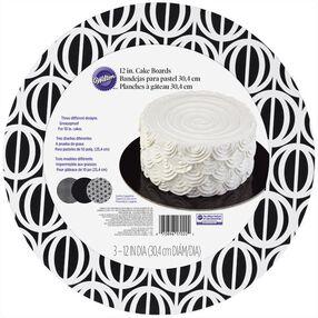 Wilton Assorted Black & White Round Cake Board Set, 3-Ct.
