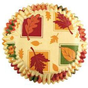 Autumn Leaves Standard Baking Cups