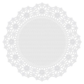 10 in. Round Grease-Proof White Doilies