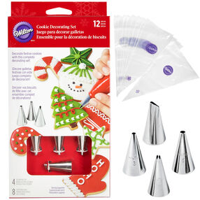 12-Piece Holiday Cookie Decorating Set