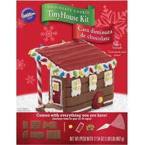 Chocolate Cookie Tiny House Gingerbread House Kit