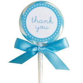 Blue Lollipop Favor Kit, 24-Count