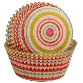 Wilton Unbleached Multicolored Stripe Baking Cups, 75 Ct. 415-2132