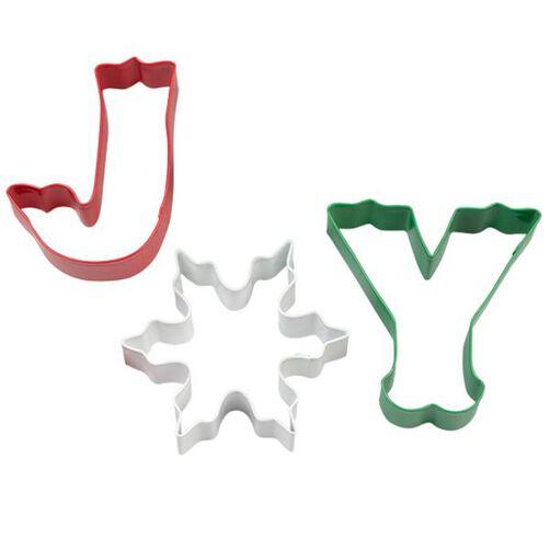 3-Pc. Joy Metal Cookie Cutter Set