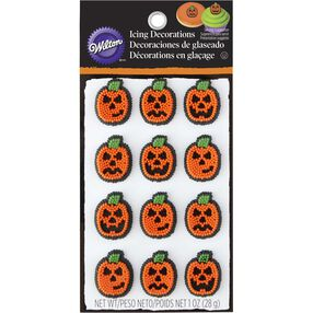 Halloween Pumpkin Icing Decorations