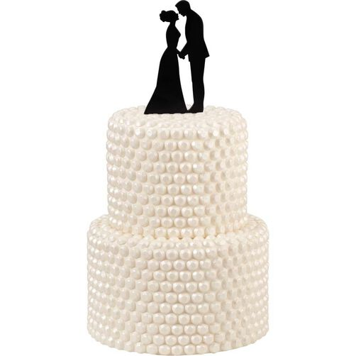 Couple Silhouette Wedding Cake Topper
