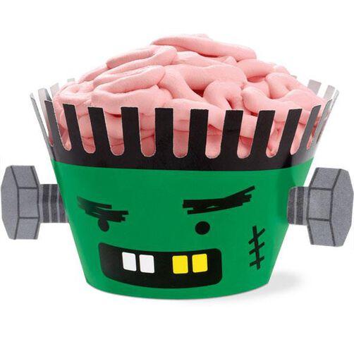 Frankenstein Spooky Pop Cupcake wraps
