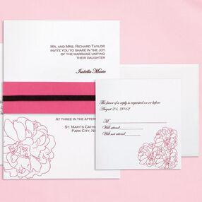 Fuchsia Peony Invitation