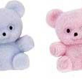 Multicolor Baby Bears Favor Accents (pink, green, yellow, blue)