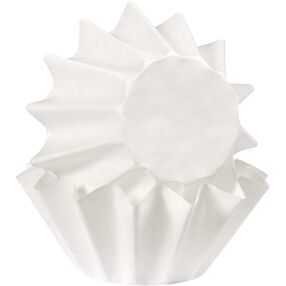 White Wave Cupcake Liners