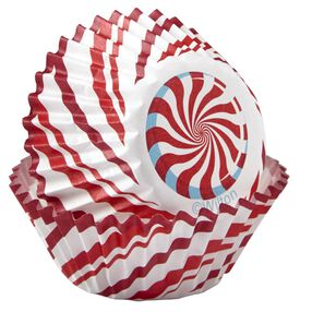 Candy Cane Mini Cupcake Liners