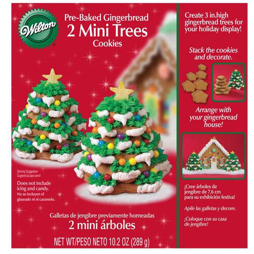 Pre-Baked Gingerbread Mini Trees