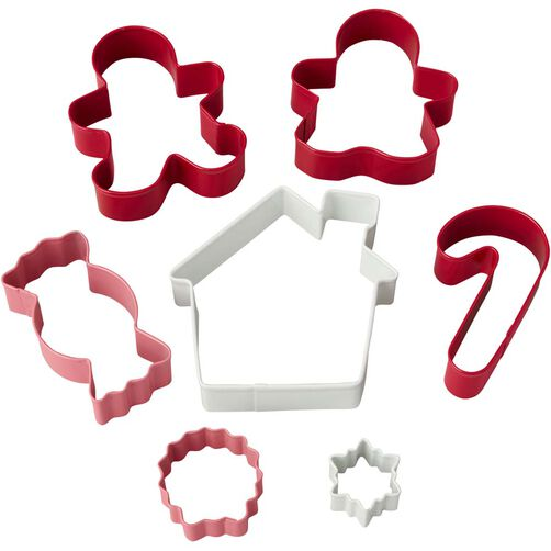 7 piece christmas cookie cutter set wilton. Black Bedroom Furniture Sets. Home Design Ideas