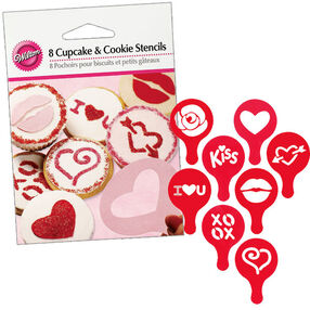 Sweetheart Cupcake and Cookie Stencils