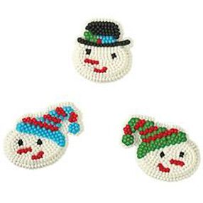 Shiver Me Snowman Icing Decorations