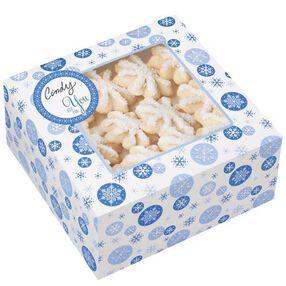Blue Snowflake Treat Box