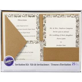 Kraft Pocket Invitation Kit
