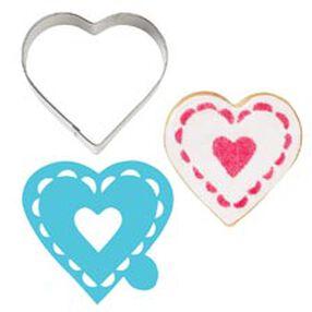 Heart Stencil-A-Cookie
