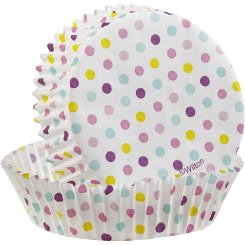 Multicolor Dot Round Cake Cup