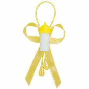 Yellow Baby Bottle Favor Band